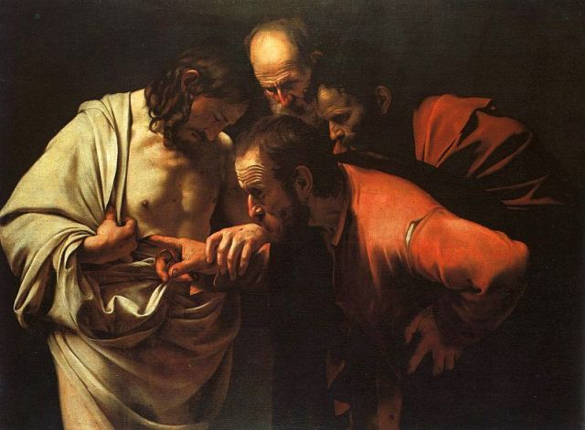 Caravaggio_-The Incredulity of Saint Thomas